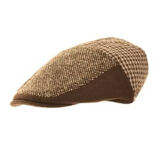 Wholesale brown mens hawkins branded country flat cap