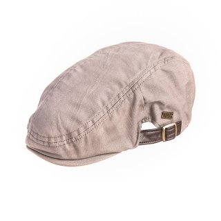 Wholesale grey mens flat cap with strap and buckle