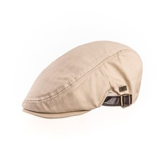 Wholesale white mens flat cap with strap and buckle