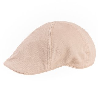 Wholesale natural mens preformed peak flat cap
