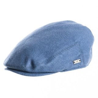 Wholesale blue coloured flat cap for men