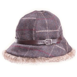 Wholesale ladies grey check bush hat