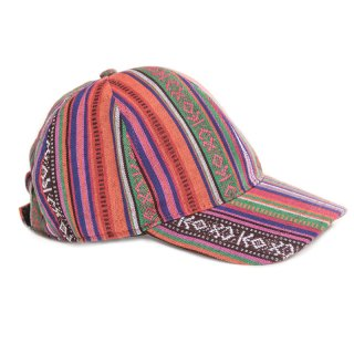 Wholesale Unisex baseball cap with red aztec design