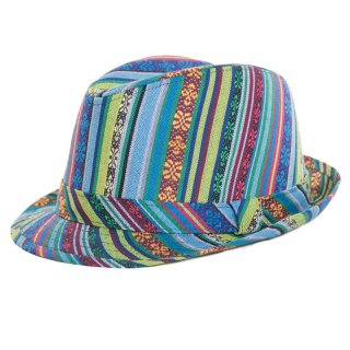Wholesale adults unisex blue aztec design trilby
