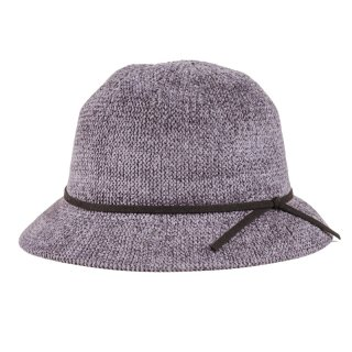 Wholesale ladies soft crushable cloche hat in grey