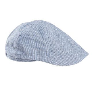 Wholesale mens light blue pinstripe flat cap
