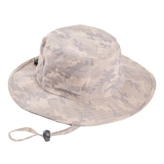 Wholesale mens khaki camo aussie style hat developed from polyester