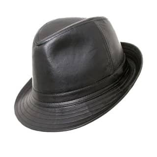 Wholesale black pvc fashionable trilby