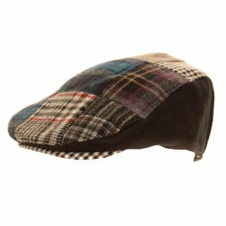 Wholesale mens patchwork flat cap