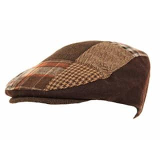 Wholesale mens red patchwork flat cap
