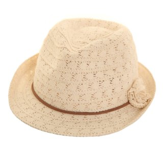 Wholesale womens white lace trilby