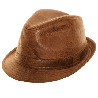 Wholesale unisex brown work look trilby