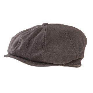 8 panel black flat cap available for wholesale purchase