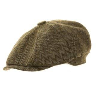 Wholesale 8-panel cap for men in green