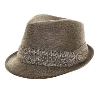 Wholesale grey herringbone trilby
