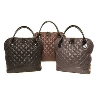 Wholesale pack of 3 diamond quilted hand bag