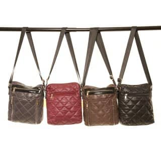 LB13- PACK OF 4 DIAMOND QUILTED CROSS BODY BAG