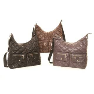 LB14- PACK OF 3 DIAMOND QUILTED SHOULDER BAG
