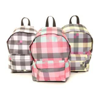 LB15-PACK OF 6 CHECK RUCKSACK