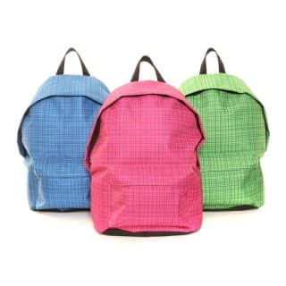 LB17- PACK OF 6 STRIPE RUCKSACKS