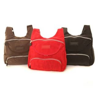Wholesale packs of 3 crushed nylon cross body bag