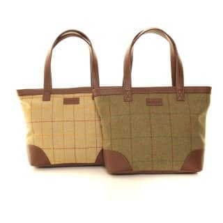 LB24-PACK OF 2 TWEED SHOPPER BAG