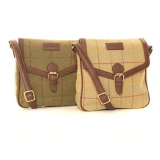 Wholesale pack of 2 tweed cross body bag