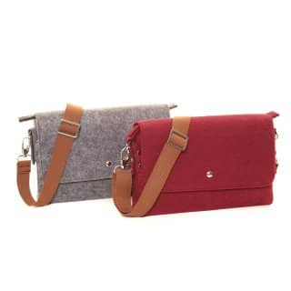 Wholesale pk of 2 felt cross body bags