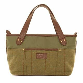Wholesale pk of 2 tweed small shopper bag