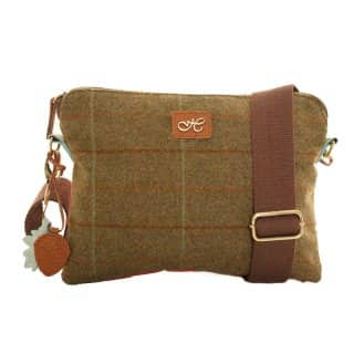 Wholesale green tweed small shoulder bag