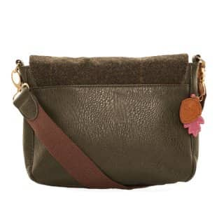 Wholesale dark brown large cross body bag from back