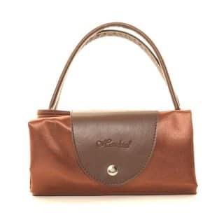 BROWN FOLD AWAY SHOPPER BAG
