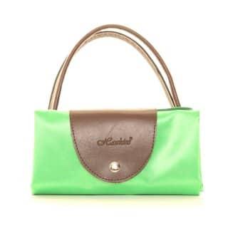 Wholesale green fold away shopper bags