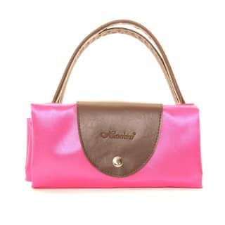 Wholesale pink fold away shopper bags