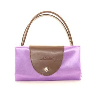 Wholesale purple fold away shopper bags