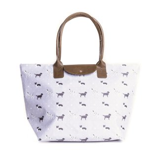Wholesale shopper bag featuring a dog print