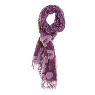 Wholesale purple popcorn lightweight scarf