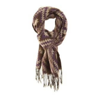 LS114 - LADIES BECCA DIAMOND PRINT SCARF