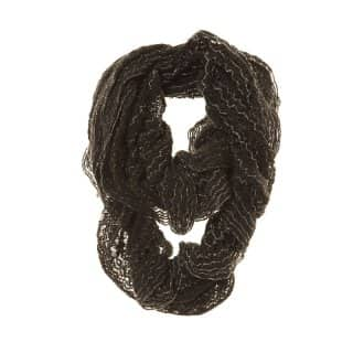 Wholesale black lace knit lightweight scarf
