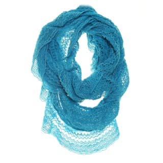Wholesale blue lace knitted lightweight scarf