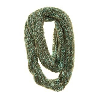 Wholesale green lurex lightweight scarf