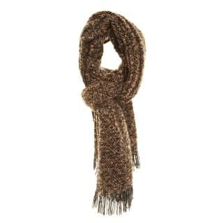 Wholesale ladies marissa loop light weight scarf in brown