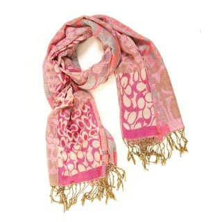 Wholesale ladies freya pink multi print lightweight scarf