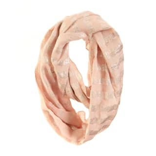 Wholesale ladies pink brooke lurex lightweight scarf