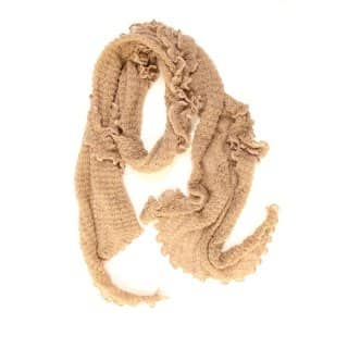 Wholesale ladies 'lexi' firlly scarf in beige