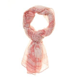 Wholesale abbie elephant pink lightweight scarf