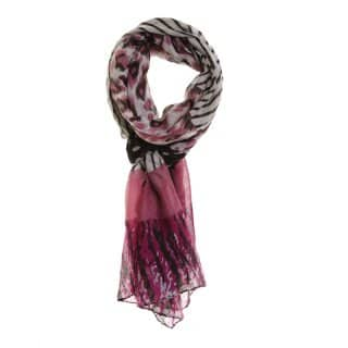 Wholesale pink spot and stripe lightweight scarf