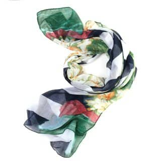 LS23 - LOUISE STRIPE WITH FLOWER SCARF