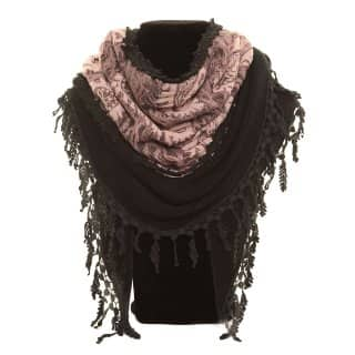 Wholesale lightweight scarf with pink paisley print