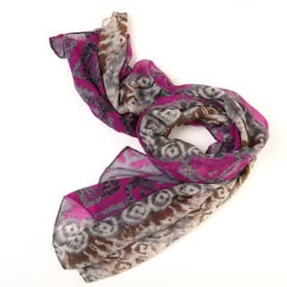 Wholesale lightweight purple diamond printed scarf
